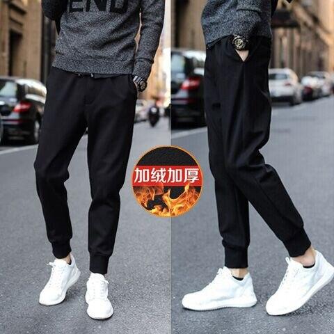 2018 Autumn And Winter New Style MEN'S Sports Pants Mirco Velvet Casual Sports Pants Men's Harem Pants Plus Velvet Casual Pants