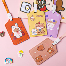Cute Cartoon Student ID Credit Card Case Badge Holder Neck Pouch  Wallet Purse Keychain