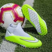 Hot Sale Soccer Indoor Shoes Mens Large Size Turf(TF) Men Football Sock Boots Breathable Kids Soccer Boots Brand Football Shoe