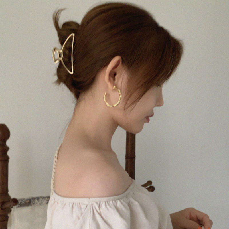 Korean Minimalist Style Geometric hair ClipHair Clips Hair Accessories  daily style hair accessoriesVintage retro styleLarge Barrette