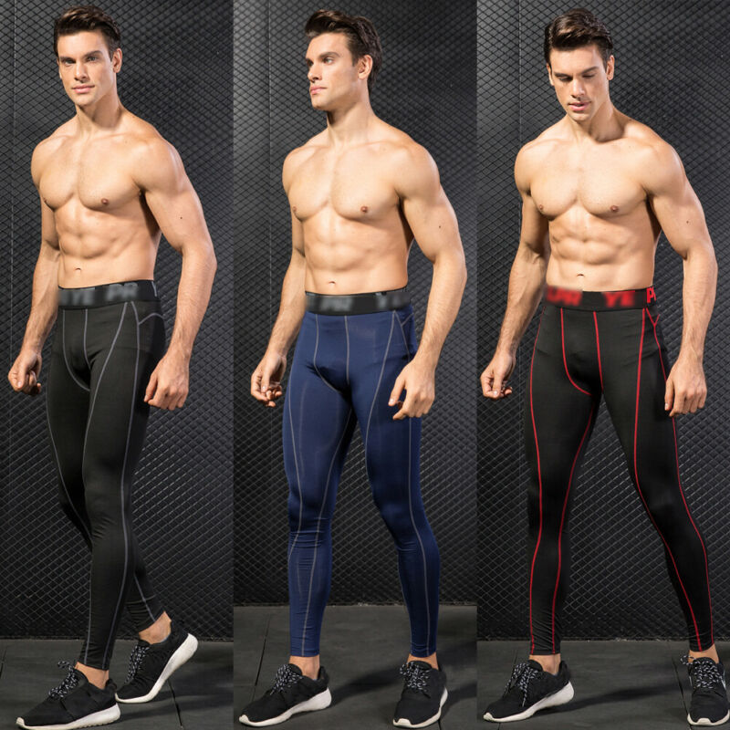 Hot Sale Casual Skinny Men's Compression Under Long Pants Base Athletic Sport Workout Layer Running Sports Tights Fitness