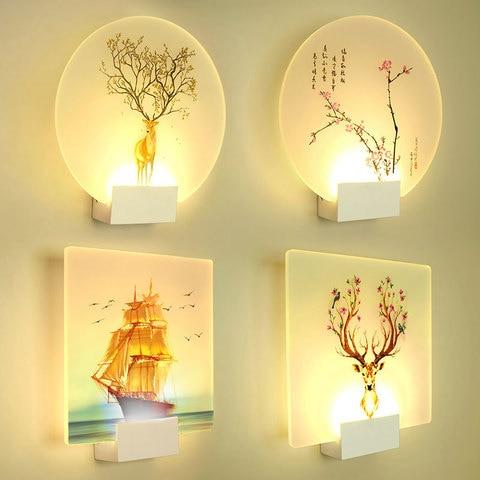 artpad 8 w romantico moderno loveliness classico imagem lampada de parede cabeceira quarto corredor da