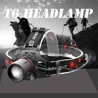 USB LED headlamp fishing headlight XML T6 3 modes Zoomable lamp Waterproof Head Torch flashlight Head lamp use 18650 For camping