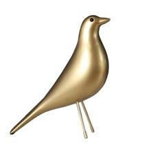 Золото Цвет дом птица для Гостиная украшения Best Art голубь смолы птица