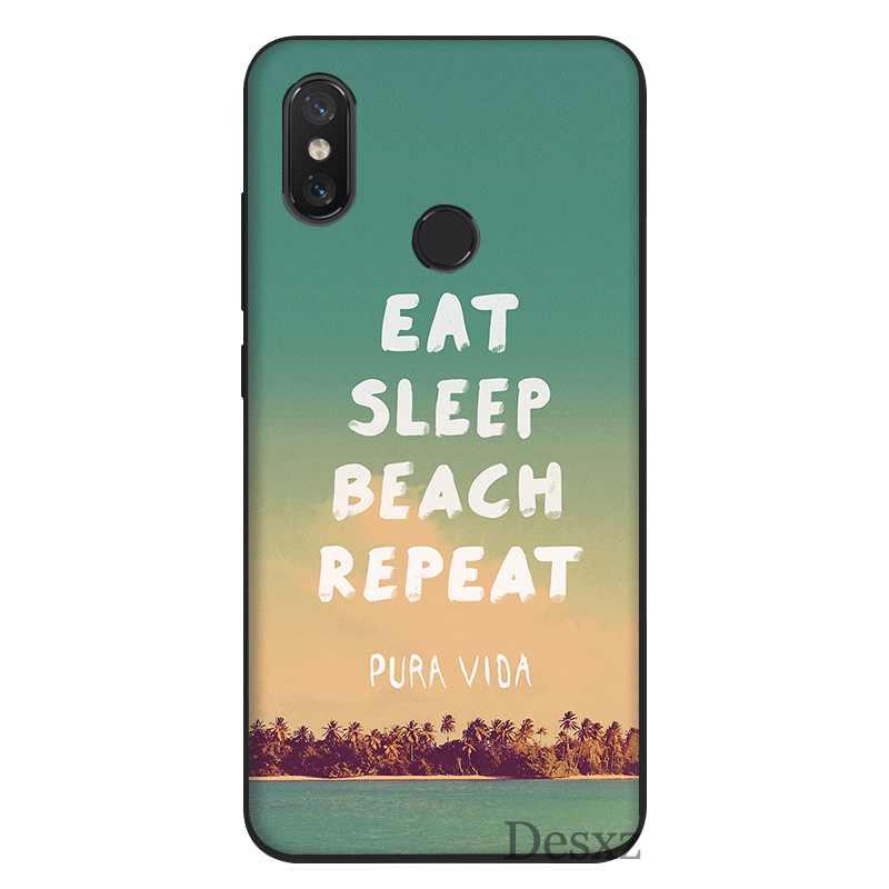 Etui na telefon komórkowy miękkie dla Xiaomi Redmi 7 7A iść K20 S2 6 6A Pro 5 Plus 5A 5 4X 4A pokrywa jeść chwastów muzyki snu wzór powłoki