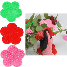 1PC Pink Plastic DIY Cut Tool Florist Flower Rose Thorn Stem Leaf Stripper Rose Removing Burr Eco-friendly Garden Tool Green Red