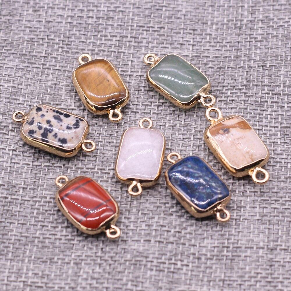 Купить соединитель с двумя отверстиями из натурального камня изысканные