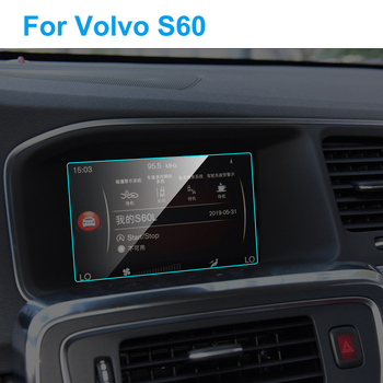 7 Inch Car GPS Navigation Screen Protector for Volvo S60 Interior Tempered Glass Touch Screen Protective Film Car Accessories image