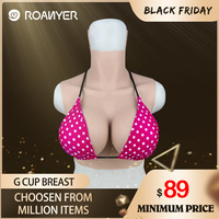 Roanyer fake boobs silicone breast forms for crossdressing drag queen shemale crossdresser transgender G Cup