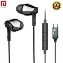 Langsdom New USB Type C Earphone for Phone Xiaomi with Mic in ear Headphone Hifi Bass Headset Samsung Auriculare