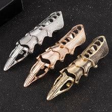 2020 nova moda legal masculino meninos punk gótico rocha rolagem conjunta armadura junta metal dedo cheio anéis de ouro cospaly diy anéis