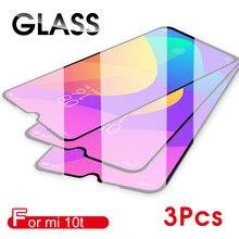3 sztuk pełna pokrywa szkło dla Xiaomi Mi 10t Mi 10 Lite szkło hartowane dla Xiaomi Poco X3 NFC Mi9 Lite Pro mi10 szklany ekran Protecto