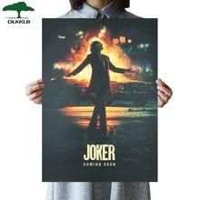 DLKKLB DC фильм плакат Джокер крафт-бумага Винтажный стиль мультфильм стикер стены 51x36 см дома Спальня декоративная живопись