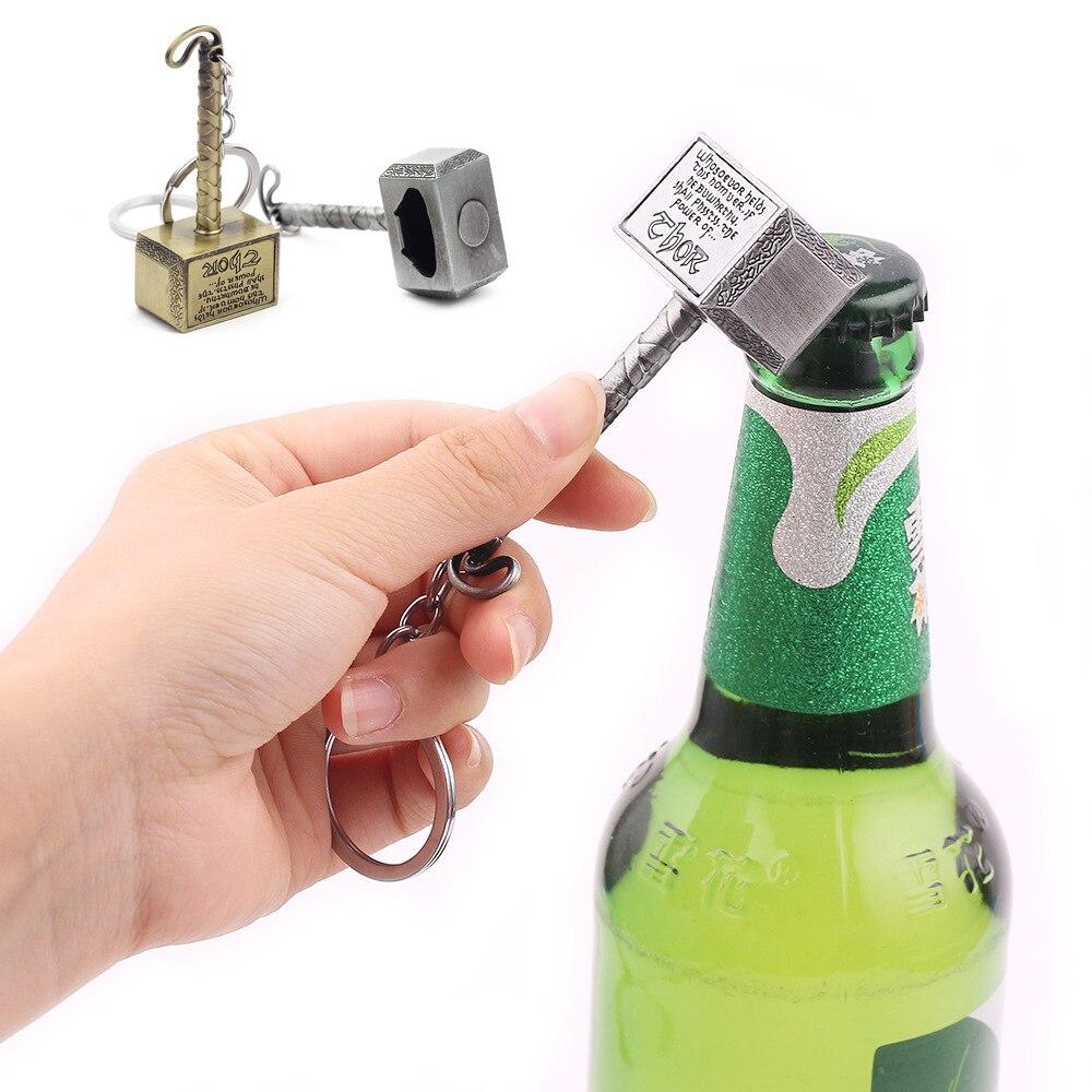 Multipurpose Keychain Bottler Opener Beer Bar Tools Beer Bottle Openers Hammer Of Thor Shaped Bottle Opener Dropshipping