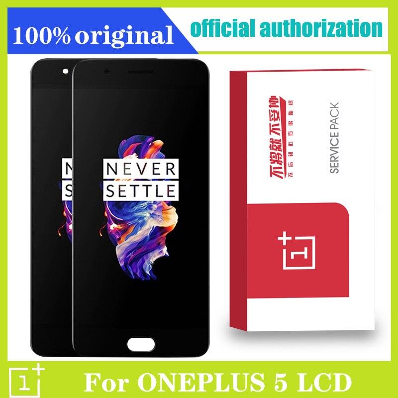 TFT/AMOLED ЖК-дисплей для Oneplus 5 дисплей для Oneplus A5000 кодирующий преобразователь сенсорного экрана в сборе Замена 5,5 ''черный без/с рамкой