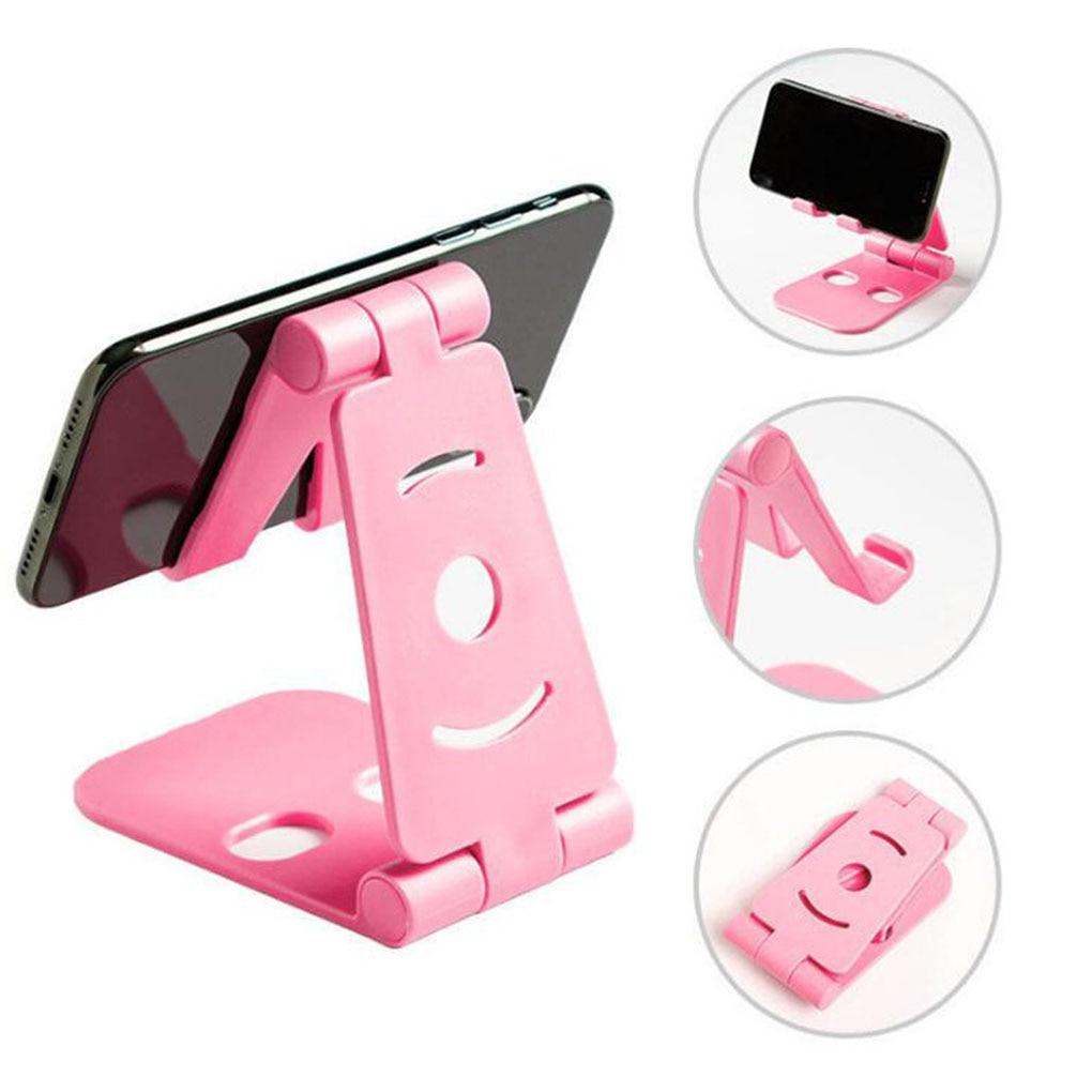 Multi-angle Adjust Foldable Phone Holder Desktop Cellphone General Folding Plastic Stand Portable Phone Tablet Stand