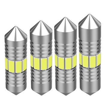 Гирлянда 31 мм, 36 мм, 39 мм, 41 мм, высококачесветодиодный сверхъяркая Светодиодная лампа C5W C10W для освесветильник номерного знака автомобиля, внутренняя Верхняя лампа для чтения Сигнальная лампа      АлиЭкспресс