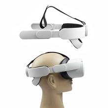 Ajustável para oculus quest 2 cabeça correia de cabeça vr elite forcesupport realidade virtual apoio melhorar a correia aumentar o conforto novo
