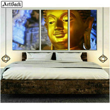 5d Square Diamond Painting Golden Buddha Head Full Autumn Scenery Embroidery Crystal Mosaic Picture Decoration