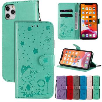 Skórzane etui do iPhone 5 5S SE SE 2020 6 6S 7 8 X XS XR 10 XS MAX 11 Pro max 12 etui na telefony do LG K40 K40S K50 K50S K51 K61 G9 tanie i dobre opinie Biencaso Portfel Przypadku Embossing Case Flip Covers Stand Coque Bags Apple iphone ów Iphone 6 Iphone 6 plus IPHONE 6S