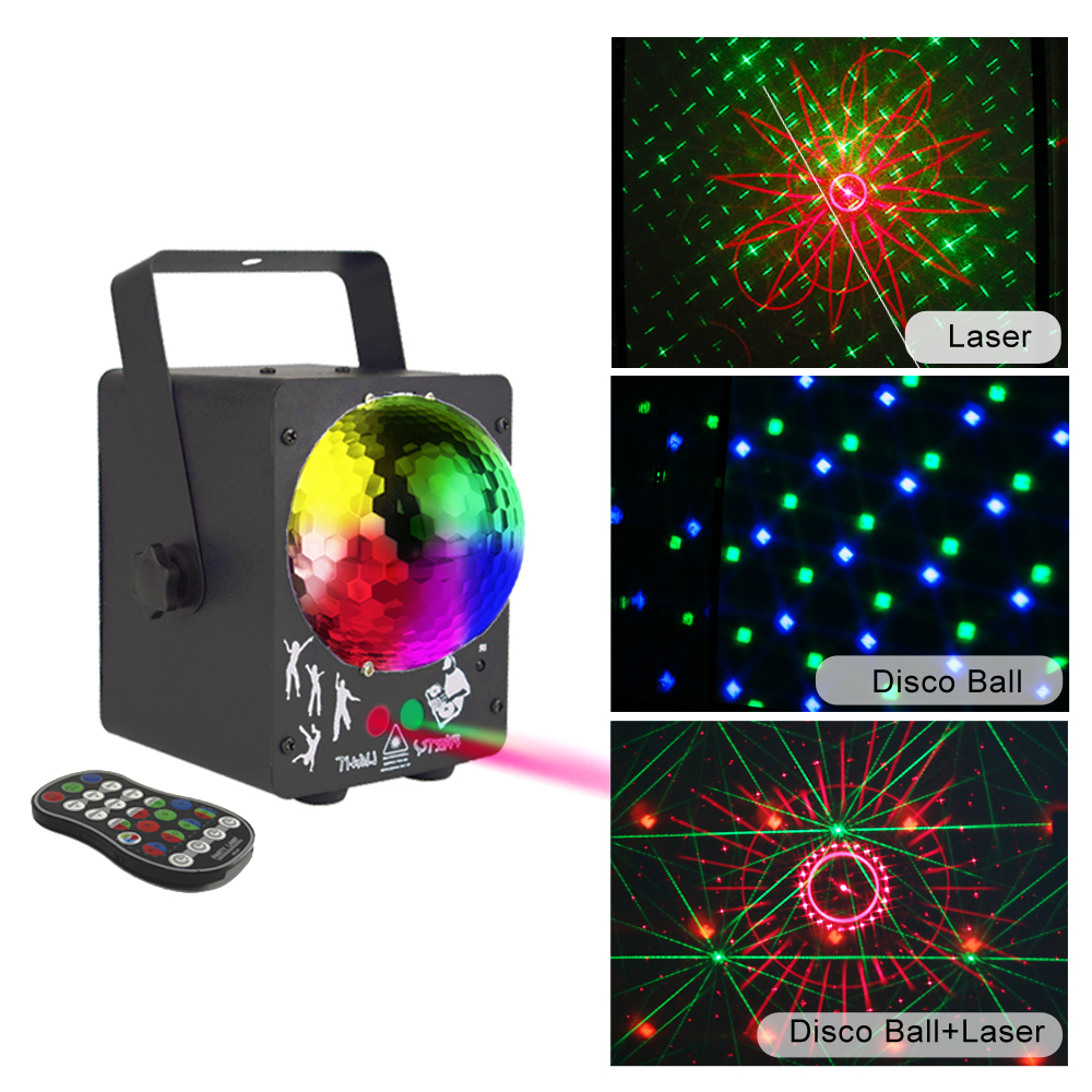 New 18W DJ Laser RGB Stage Light Projector Party Lights LED  Effect Lamp For  Christmas Holiday Bar Lighting Party Indoor Deco