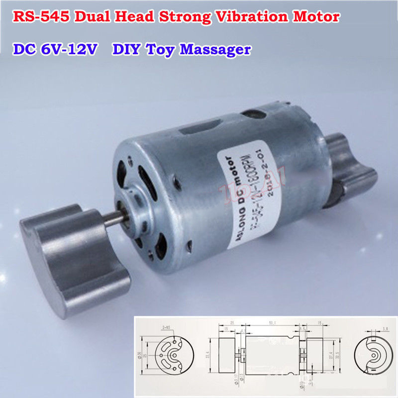 2PCS DC6V 12V Strong Vibration Micro R260 Vibrating Motor DIY Toy Massager Model