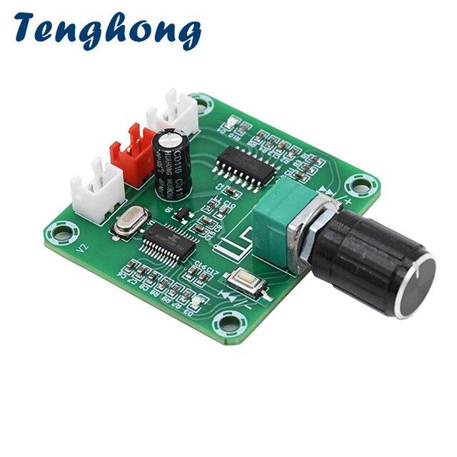 Tenghong PAM8403 Bluetooth 5.0 Bordo Dellamplificatore di Potenza 5W * 2 a Due Canali Stereo Altoparlante Senza Fili Fai da Te Scheda di Amplificazione Del Suono DC5V Amp