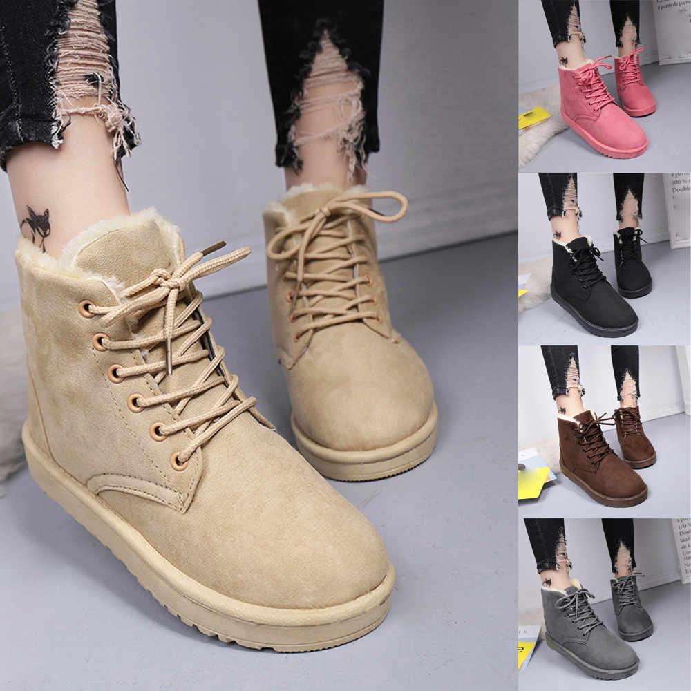 KANCOOLD Frauen Stiefel Winter Warm Schnee Stiefel Frauen Wildleder Stiefeletten Weibliche Winter Schuhe Botas Mujer Plüsch Booties Frau 2019