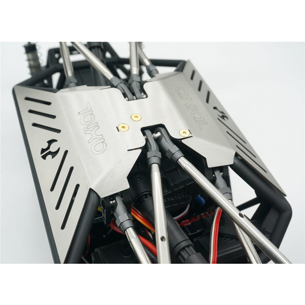 Chassis Guard Car Body Armor Plate Guard Stainless Steel Bottom for Axial Capra 1.9 UTB AXI03004