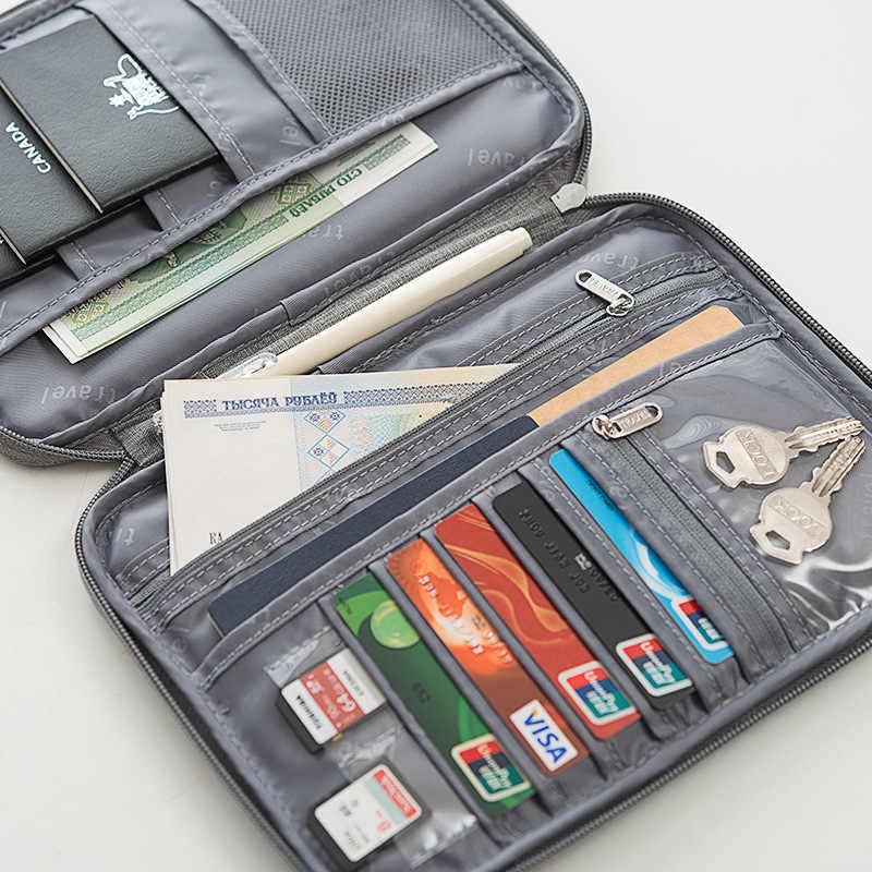 Multiuso Delle Donne Portafogli di Documenti Organizzatore Pacchetti di Viaggio Titolari di Passaporto Della Copertura Carte di Credito Commerciale Distintivi E Simboli Portafogli Degli Uomini