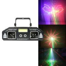 Dj stage laser luz 2019 mais novo 2in1 strobe laser iluminação discoteca festa em casa férias projetor estroboscópio
