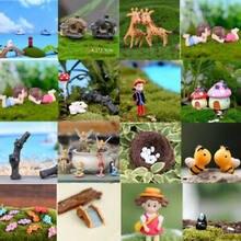 Mini decoración casa de muñecas figuras de hadas miniaturas paisaje planta estatuilla de terrario Bonsai decoración de jardín