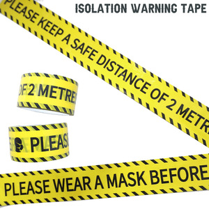 Image 5 - 1/Roll 24mm*25m Warning Tape Danger Caution Fragile Barrier Remind DIY Sticker Work Safety Adhesive Tapes For Mall Store School