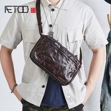 Кожаная сумка мессенджер aetoo для мальчиков универсальная мужская