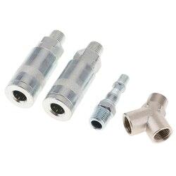 Conectores do encaixe do compressor da mangueira da linha de ar das juntas do t liberação rápida