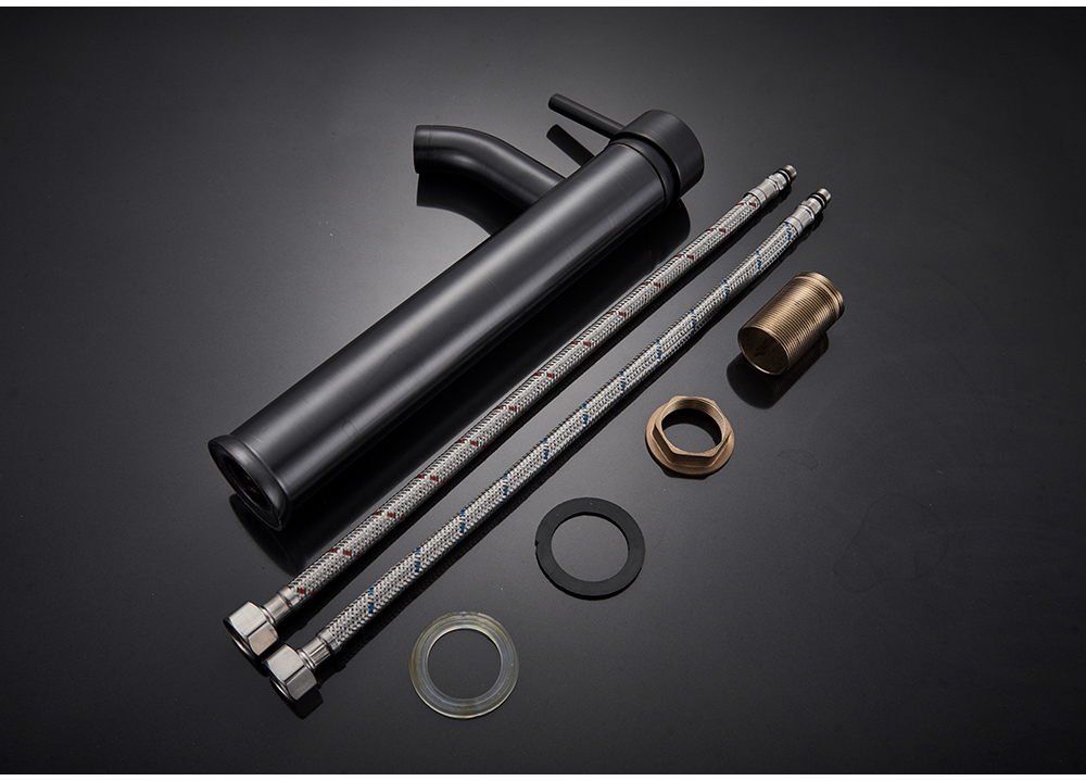H24ff7ea904534730be00d8e401fae0e7U POIQIHY Bathroom Basin Faucets Cold/Hot Mixer Basin Sink Tap Black Golden Water Kitchen Faucet Bathroom Vessel Sink Tap One Hole