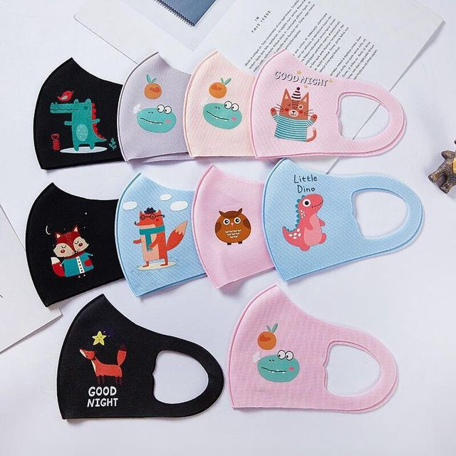 5PCS Cartoon Child Face Mask For baby Kids Anti  Dustproof Smoke Pollution Mask with Ear loop Washable Respirator Mask 4