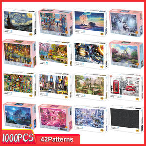 Jigsaw-Puzzles Assembling Educational Toys Picture Wooden Kids Games Adults Childrens