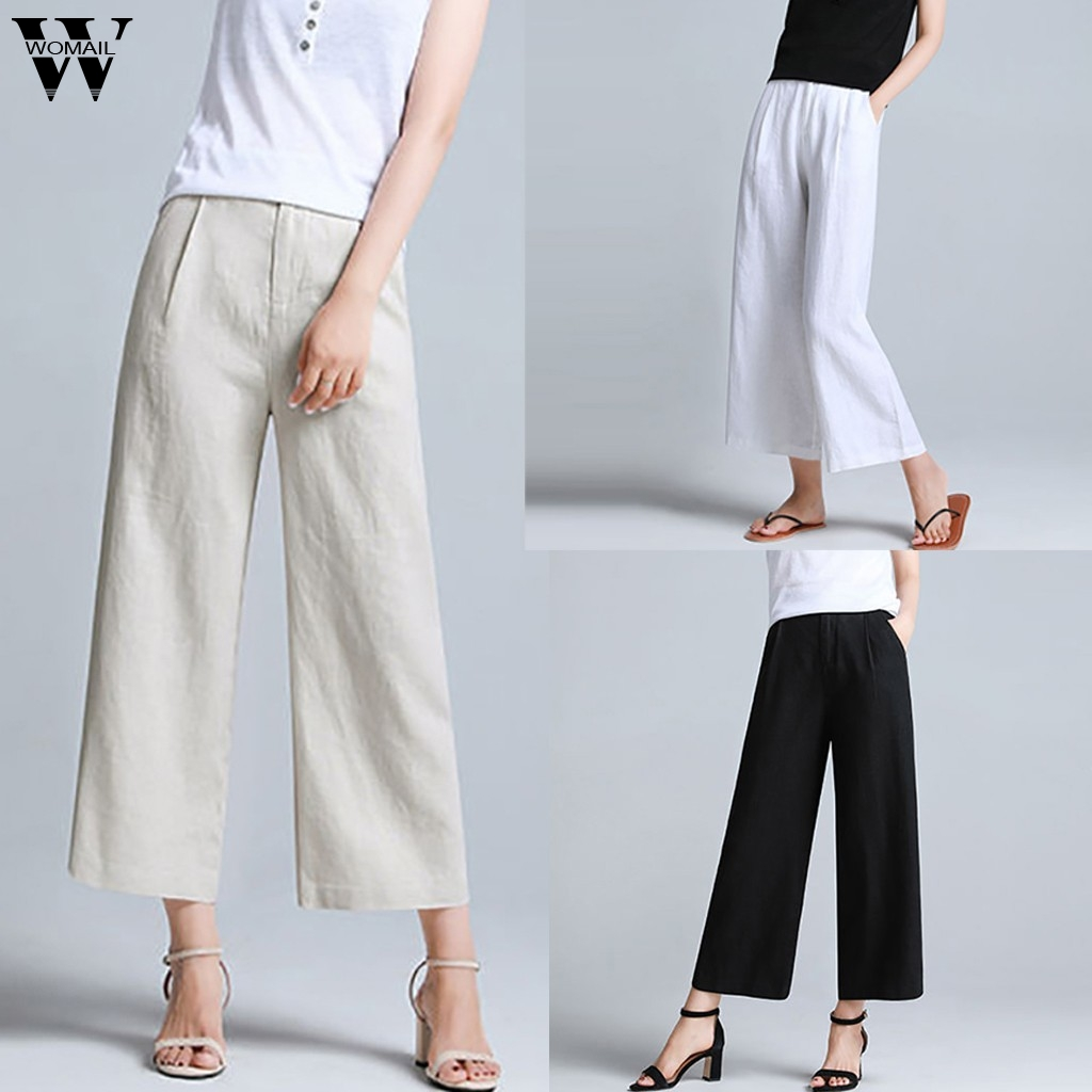 Womail Women   Pants     capris   Casual Harem   Pants   wide leg Hip-Hop Streetwear White Sport running Sweatpants   Pants   Trousers 2019 J724