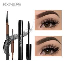 Focallure 2 шт набор для макияжа глаз 3 в 1 автоматическая пудра