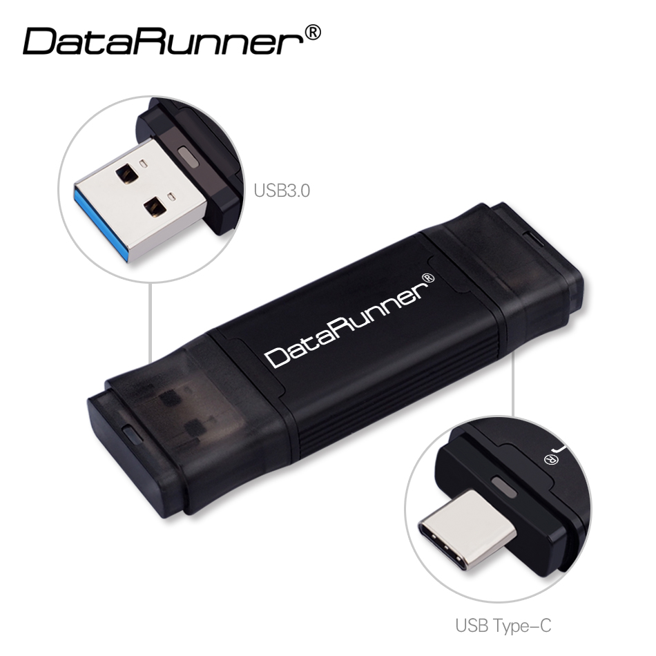 DataRunner TYPE C USB 3.0 Flash Drive 256GB 128GB 64GB 32GB Pen Drive External Storage Pendrive 512GB USB Stick For Type-C/PC
