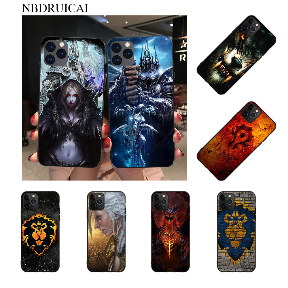 NBDRUICAI Wows World of Warcraft Coque Shell Phone Case for iPhone 11 pro XS MAX 8