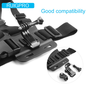 Image 4 - Ruigpro Adjustable Harness Chest Strap Mount For DJI osmo action camera Gopro Hero 9 8 7 6 5 4 Xiaomi Yi 4K Go Pro 7 Accessory