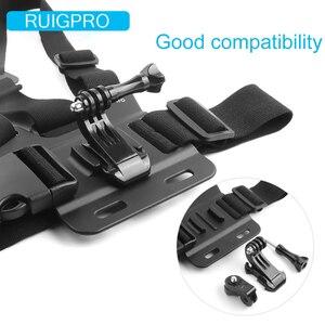 Image 4 - Ruigpro harnais réglable sangle de poitrine support pour DJI osmo caméra daction Gopro Hero 9 8 7 6 5 4 Xiaomi Yi 4K Go Pro 7 accessoire