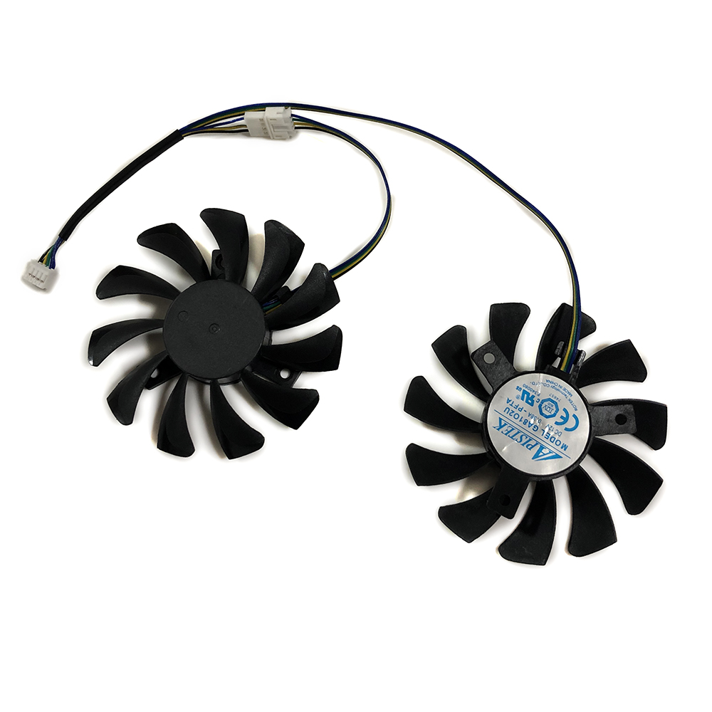 2pcs/set 75mm APISTEK GA81O2U DC 12V 4Pin Cooler <font><b>Fan</b></font> For ZOTAC <font><b>GTX</b></font> <font><b>660</b></font> GTX660-2GD5 Graphics Card Cooing As Replacement image