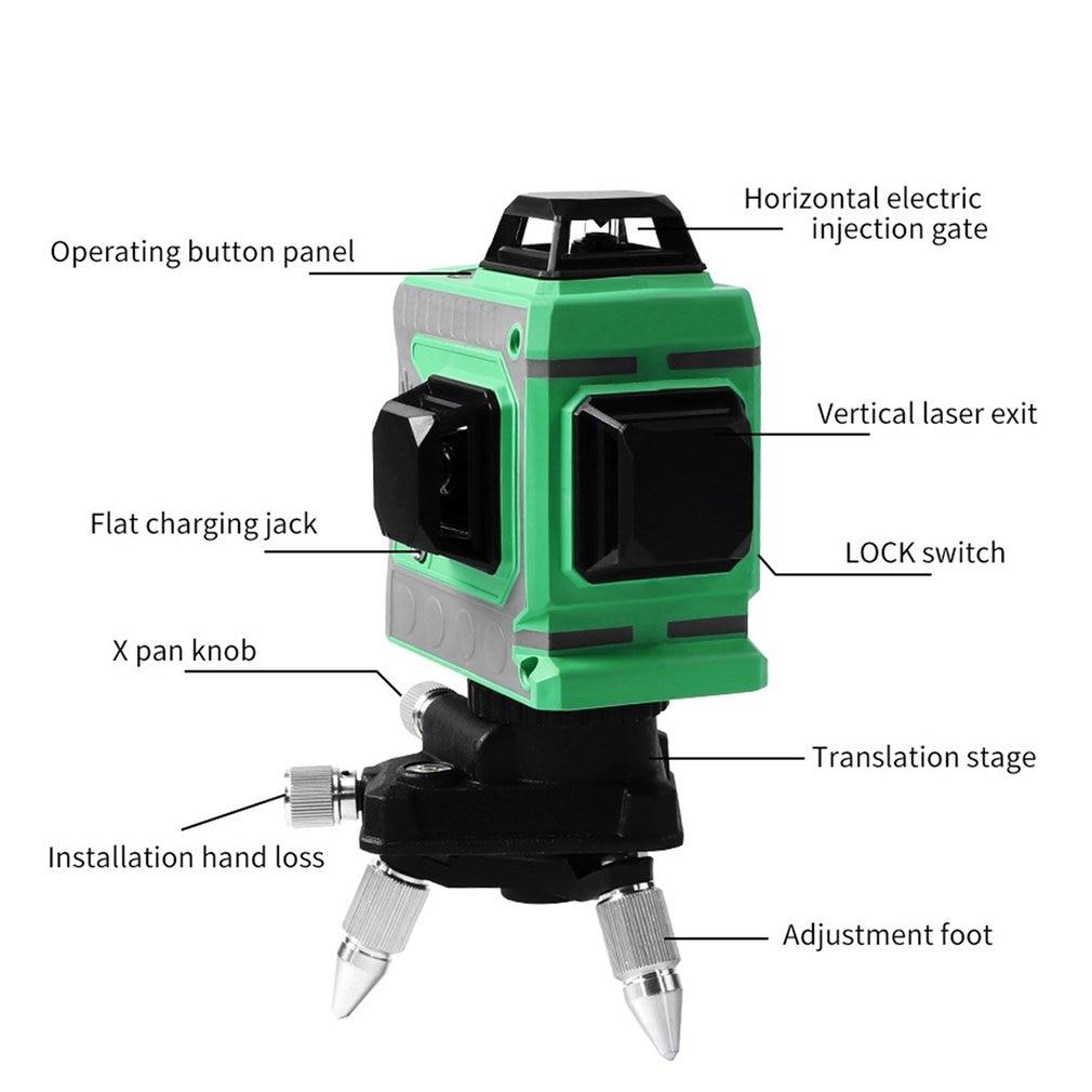 Ligne d'alignement auto-nivelante au niveau Laser Laser à ligne transversale horizontale et verticale avec Base rotative à 360 degrés