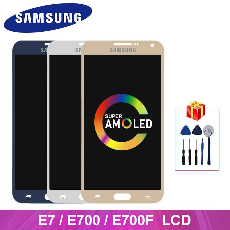 Super AMOLED For Samsung Galaxy E7 E700 LCD Display Touch Screen Digitizer Assembly Parts For Samsung E7000 E700F Display Screen