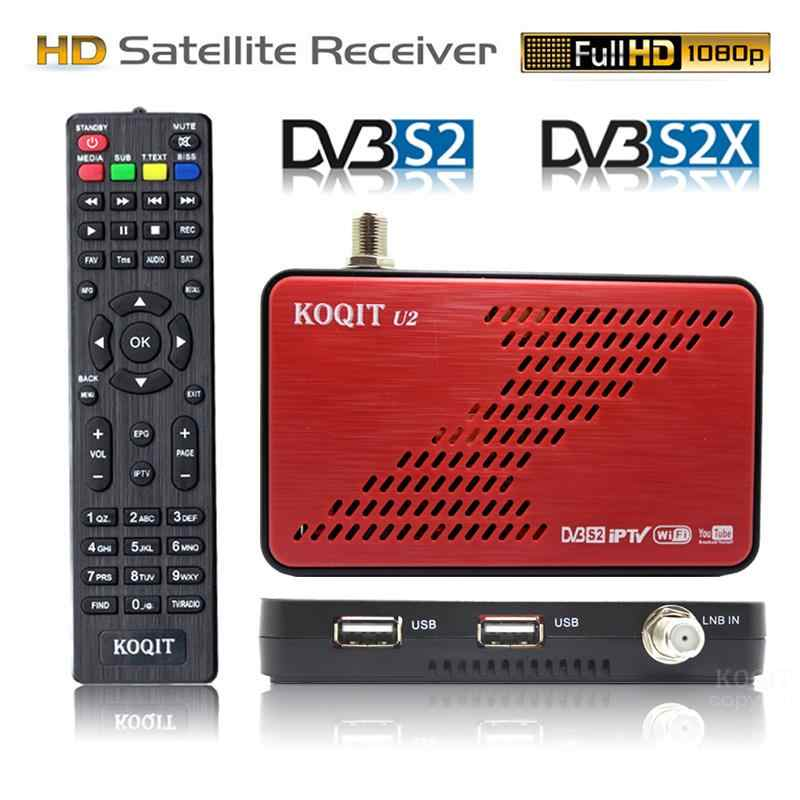 Koqit U2 Dvb S2X Dvb S2 Satellietontvanger Satelliet Finder Internet Decoder Iptv DVB-S2 Receptor Iks Biss Usb Wifi/RJ45 Youtube
