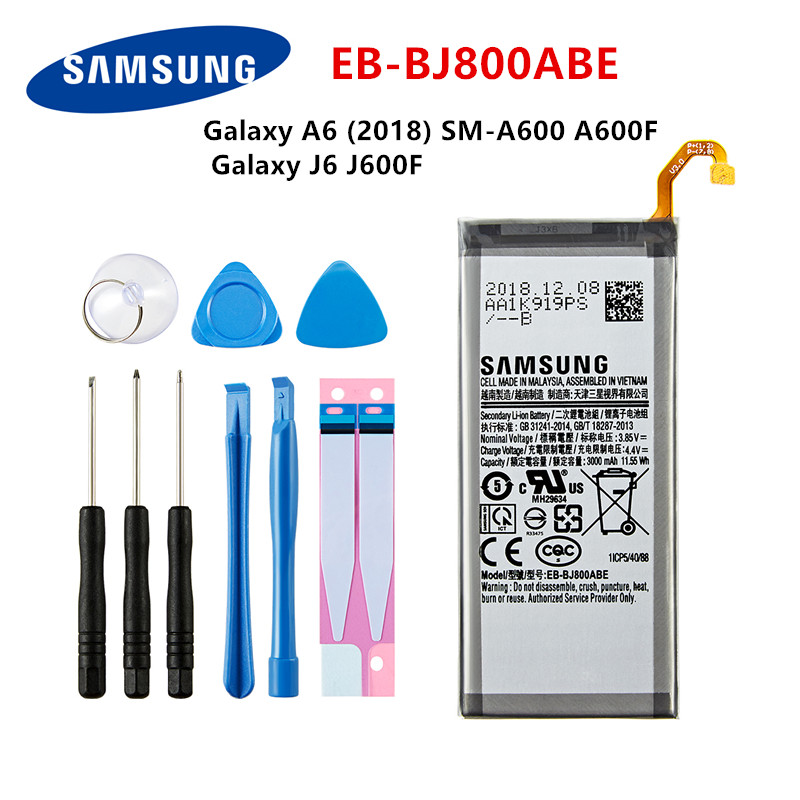 Battery Replacement for Samsung Galaxy A6 2018 Galaxy A6 2018 LTE Galaxy J6 2018 Galaxy J6 2018 Duos Galaxy J6 2018 Duos TD-LTE Galaxy J6 2018 Duos TD-LTE KR