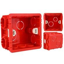 1 шт. распределительная коробка для монтажа в стену 86 мм* 85 мм* 50 мм для 86 Тип переключатель и гнездо коробка белый/красный настенный переключатель проводка темная коробка